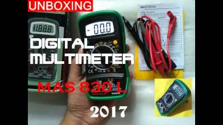 MASTECH MAS 830L Digital Multimeter Unboxing And Review 2017