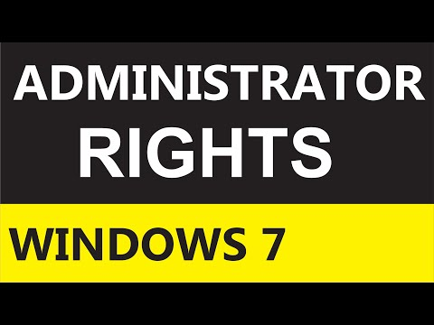 How to login as administrator in windows 7