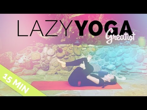 lazy yoga  easy yininspired yoga sequence for when you