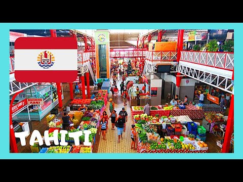 TAHITI, the spectacular Central Market of PAPE'ETE (French Polynesia, Pacific Ocean)