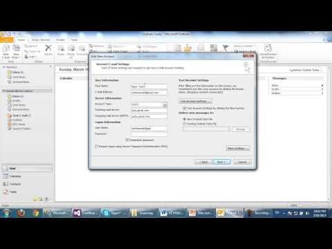 Hướng dẫn cấu hình gửi nhận mail với Microsoft Outlook 2010