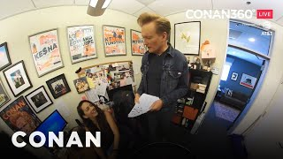 CONAN360° LIVE Highlight: Conan Gives A Tour Of Sona's Desk