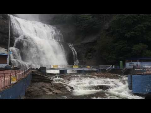 Courtallam Main Falls Slow motion