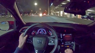 2020 Honda Civic Si Sedan - POV Night Drive (Binaural Audio)