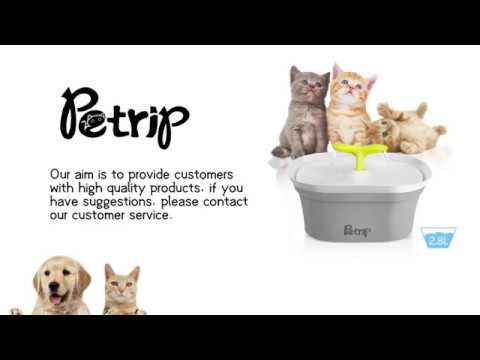 Petrip cat water fountain provide your pet clean water