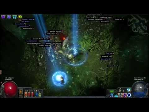 Path of Exile Map run, Total game lag...  Tele/supernova witch