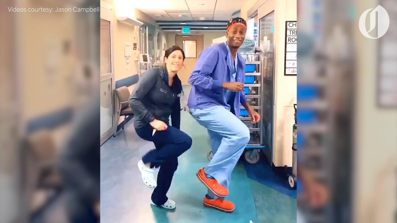 OHSU doctor dancing in hospital corridors offers reprieve during coronavirus pandemic
