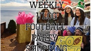 Weekly Vlog- Football,Party & SHOPPING! Thumbnail