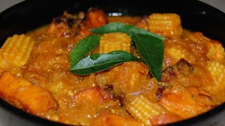"""Potato Sweet Corn Kurma & Siruthaniya Kathirika Soya Pulao"" Arusuvai Neram – Jaya TV cookery program"