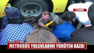 Metrobüs yolcularını yürüten kaza!