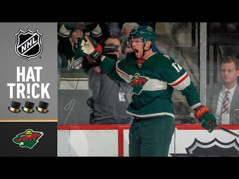 Eric Staal collects 14th NHL hat trick
