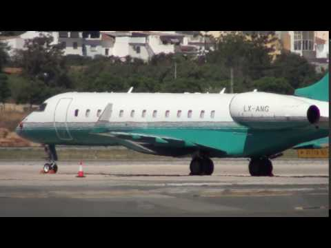 Private Bombardier BD 700 1A10 Global Express XRS LX-AMG at Malaga LEMG