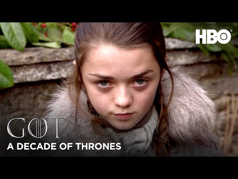 A Decade of Game of Thrones | Maisie Williams on Arya Stark (HBO)