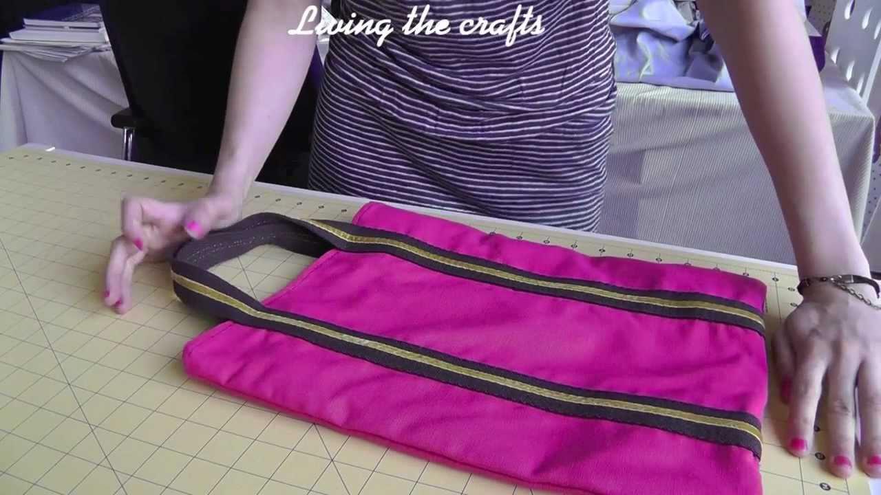 Tutorial de como hacer un tote bag patrones gratis youtube - Telas para hacer bolsos ...