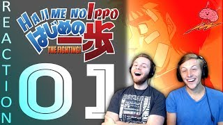 SOS Bros React - Hajime No Ippo Season 1 Episode 1 - The First Step!