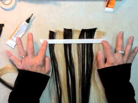 How to make a seamless taped hair weft extension using specialty how to make a seamless taped hair weft extension using specialty tape from hairweftingtape pmusecretfo Choice Image