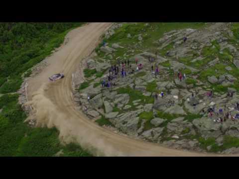 Subaru Mt. Washington Hillclimb 2017 - Travis Pastrana's Record Braking Run - Helicopter Chase