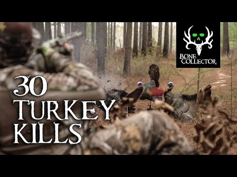 Turkey Hunting Kill Compilation! 30 in 30 seconds!!