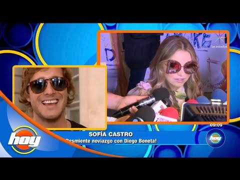 ¿Sofía Castro sale con Diego Boneta? | Hoy