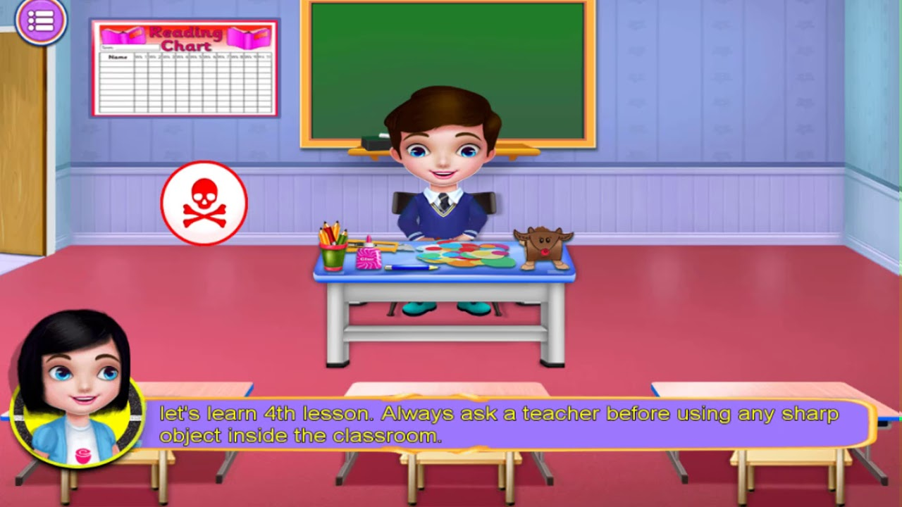 Kids Learn Safety At School Game For Kids Video Youtube