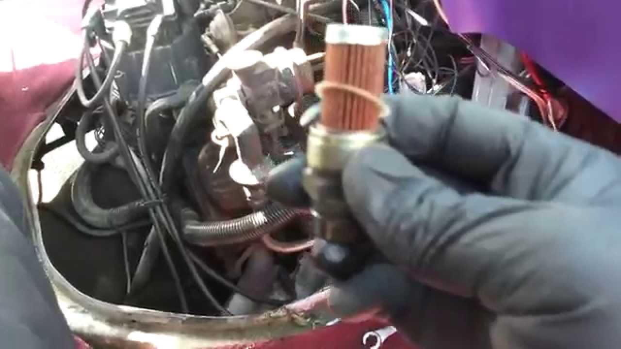 Part 1 - Replacing fuel filter '85 Chevy G10 - YouTubeYouTube