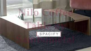 Camden Glass Modern Coffee Table By Spacify