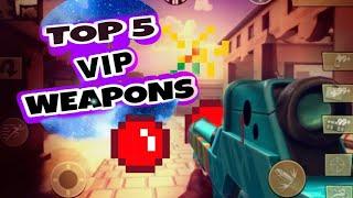 Top 5 VIP Weapons | Blitz Brigade