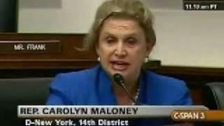 Rep. Maloney on Madoff Fraud