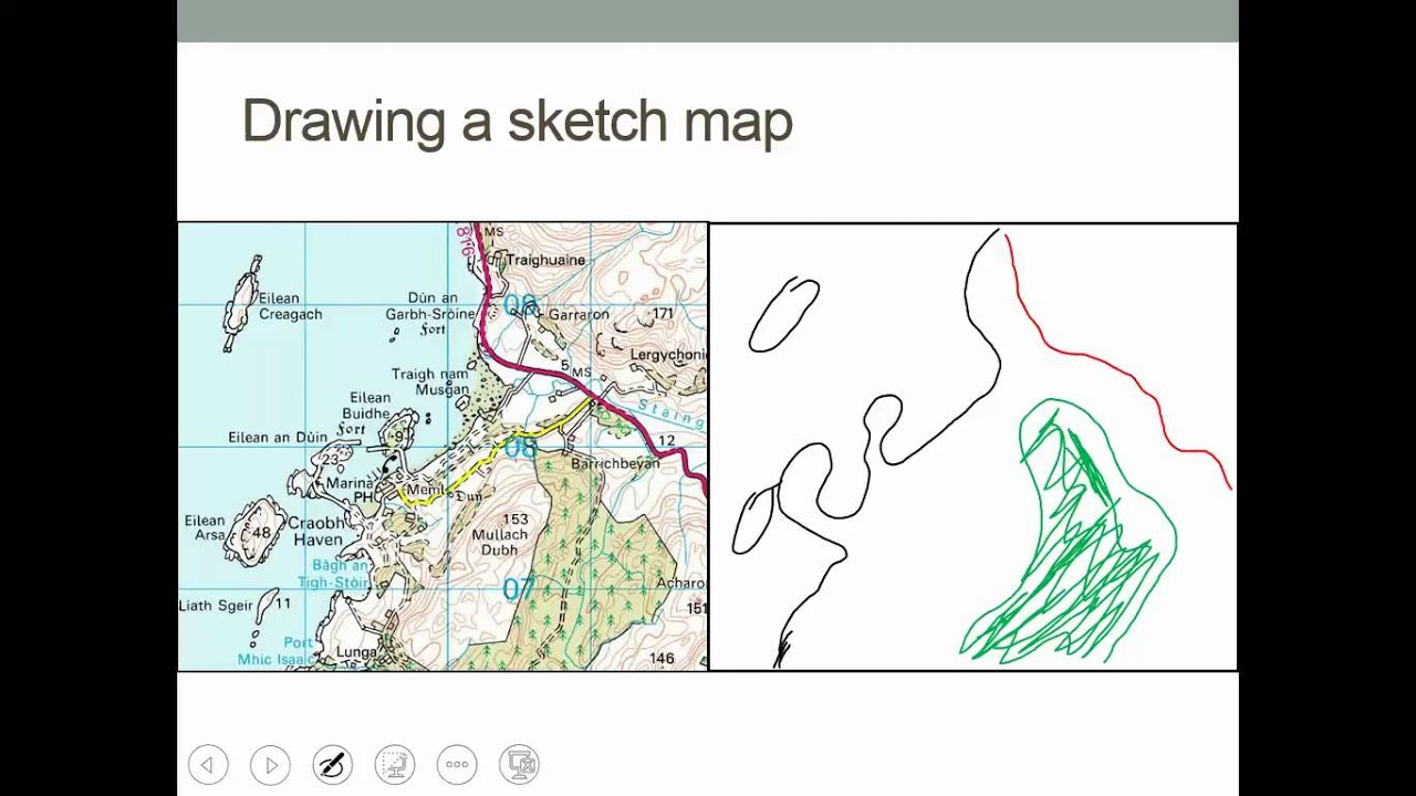 Lesson Sketch Maps And Photos YouTube - Sketch drawing us with states map