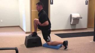 Active Box Hip Flexor Stretch with Breathing
