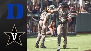 Duke vs #2 Vanderbilt Super Regional Game 3 | College Baseball Highlights