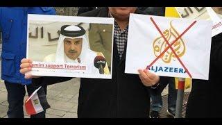 شاهد.. وقفة احتجاجية للعرب أمام فندق إقامة أمير قطر في النمسا