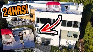 24-Hour Mansion Rooftop Challenge! *part 1*