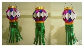 How to make Akash Kandil/paper lantern/diy kandil/handmade kandil/art my passion16