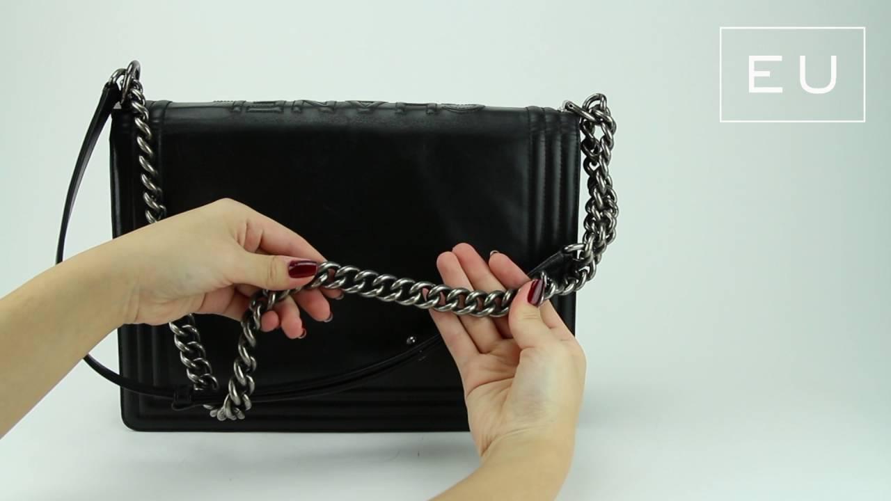 47cf5be68 Bolsa Chanel Boy Preta | Etiqueta Única - YouTube
