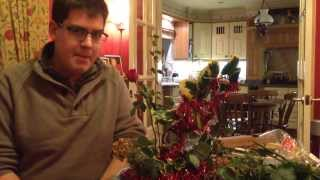 Happy Christmas 2013! - Making A Table Centre Decoration