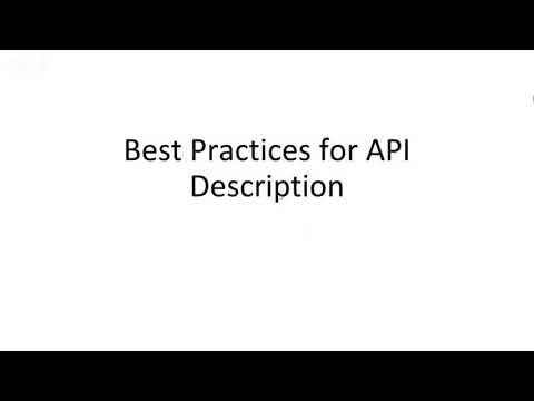 how to write api documentation using ApiMatrics