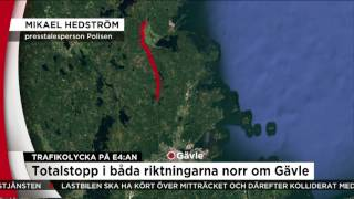 TRAFIKOLYCKA PÅ E4:AN  - Nyheterna (TV4)