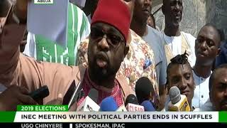 INEC meeting with political parties ends in scuffles
