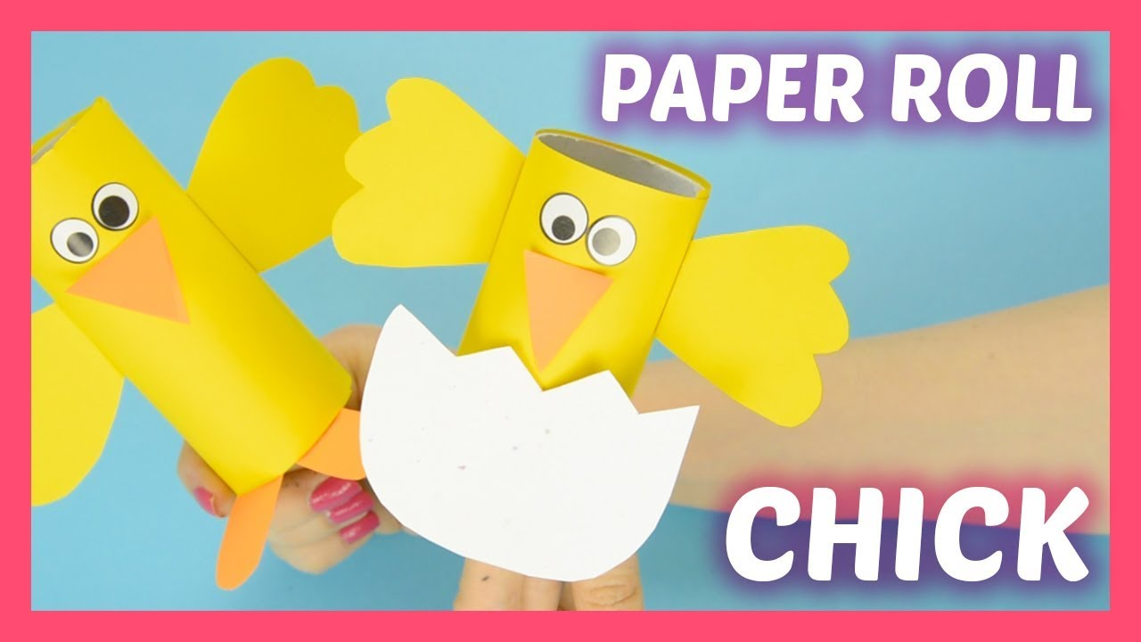 Chick Toilet Paper Roll Craft For Kids Simple Easter Crafts For