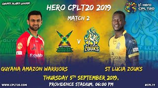 Extended Match Highlights | Guyana Amazon Warriors v St Lucia Zouks #CPL19 #CricketPlayedLouder