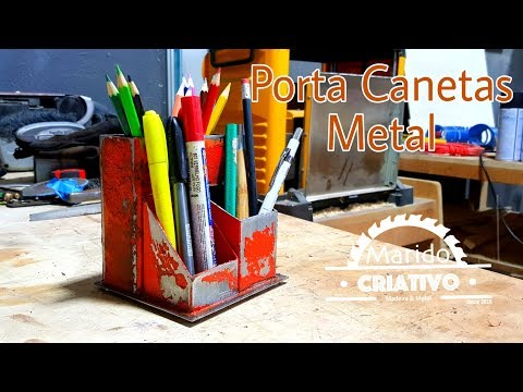 #010 Porta Canetas Metal - Metal Pen Holder