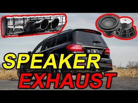 EXHAUST with SPEAKERS 🔊 INSIDE -- Change SOUND like Ferrari Lamborghini AMG