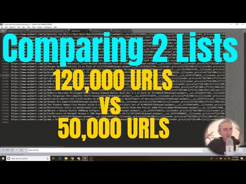 How To Compare 100,000+ Lists of URLS Quickly and Efficiently