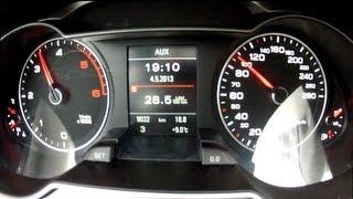 Audi A4 2013 2.0 TDI Acceleration 0 - 100 Km/h 120bhp