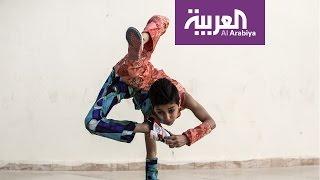 صباح العربية : الطفل العنكبوت يدخل موسوعة غينيس من فلسطين