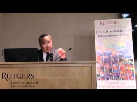 Rear Admiral Kenneth Moritsugu: Rutgers Council on Public and International Affairs