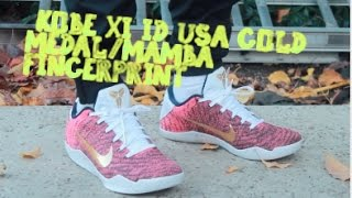 ea75d66cee1d Nike Kobe XI Elite ID USA MAMBA FINGERPRINT ON FEET!