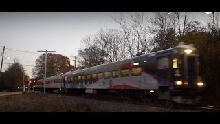 Rush Hour At Canton Junction + Chasing Stoughton Trains! 11.18.16