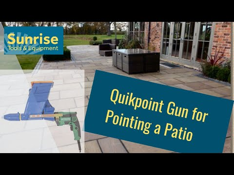 Quikpoint Paving Pointing Gun - Pointing a Patio - YouTube